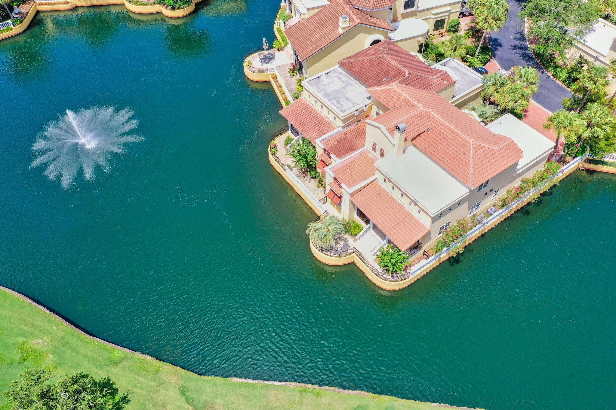 Gated and rental restricted, The Fountains is conveniently located directly across from The Village