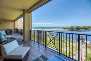 Large Balcony with view of Coastal Dune Lake and Gulf of Mexico