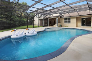 Large, private, easy walk in pool...if you ask nicely, we can include the swans!