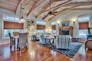 Family Room with Cypress Beamed Ceiling