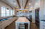 Kitchen with gorgeous marble top island