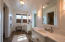 HUGE master bathroom, double separate vanities