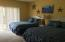 Owners chose largest bedroom for place two beds.