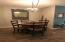 This dining areas is just off the kitchen and is open to the living room.