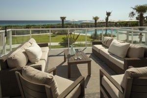 Residence 106 - Extended Patio with View of Gulf - Private Balcony - 418 sq feet