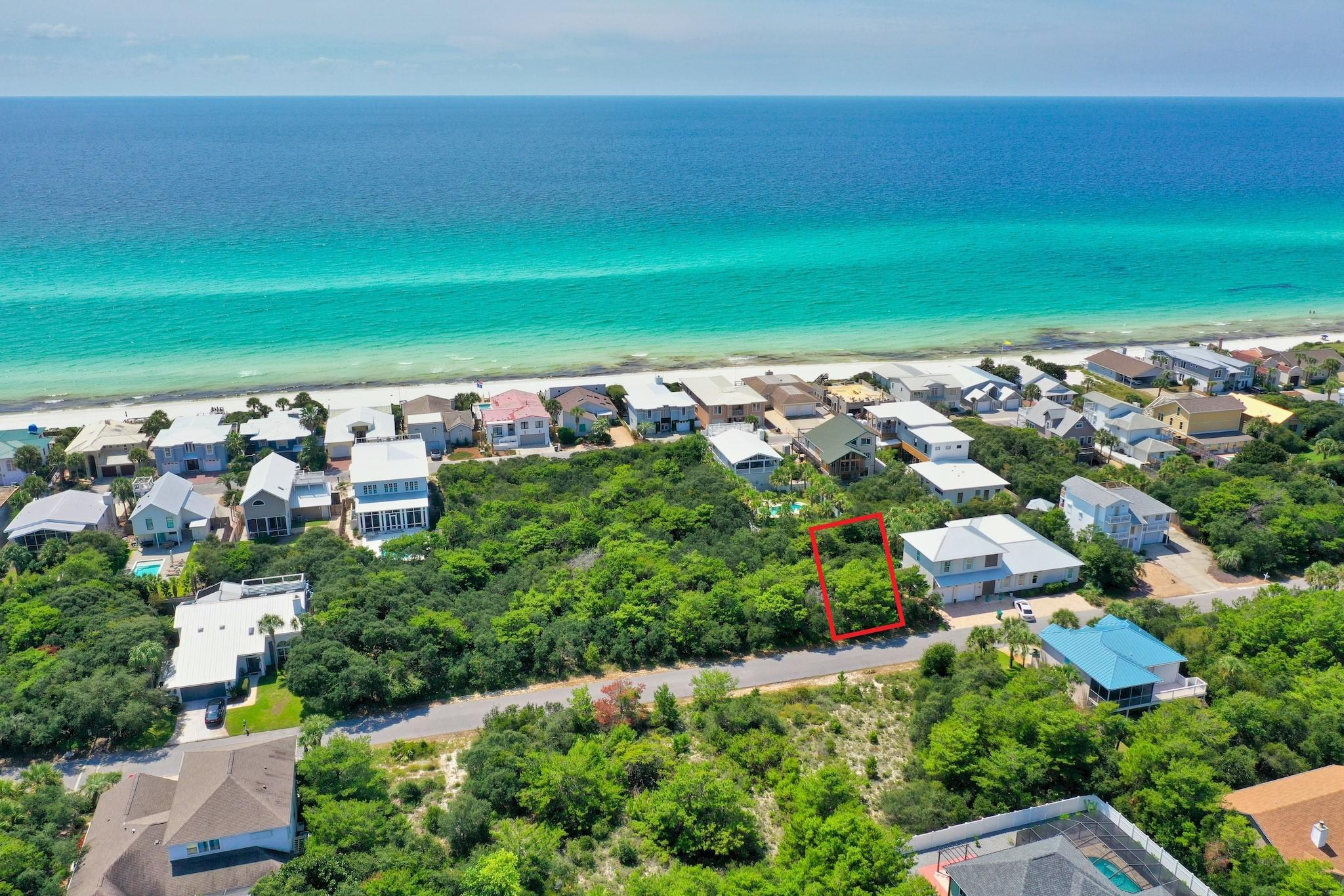 Incredible lot in a private, non-rental, gated community of 30A. Sand Cliffs on the Gulf is an exclusive community bordering Alys Beach and the beautiful Gulf of Mexico. With a low HOA fee and no build out time, this is the perfect opportunity to build your dream beach home! Gulf front lots are restricted from building higher than 18.5 ft, however lot 6 can build up to 30 ft high which means you can still enjoy Gulf views from a higher floor! This large lot sits high and dry on the bluff, the perfect place to build your 2.5 story dream beach home with Gulf views & lush surroundings! Sand Cliffs is a Gulf front community with 2 deeded beach accesses offering 1300+ ft of pristine beach along the beautiful emerald green & crystal blue waters of the Gulf of Mexico. Within a 1/2 mile to beach! There is a walkway located on the same street just steps outside of your door that leads to the private beach boardwalk. Sand Cliffs on the Gulf offers a peaceful setting for private homeowners, no thru traffic nor crowded beaches. Sand Cliffs is one of the highest elevations on the Gulf of Mexico along Scenic Hwy 30A. Lot 6 sits high on the bluff with miles of panoramic views, both west and east. Being south of 30A and nearby Alys and Rosemary Beach means you are just a short walk or bike ride away from all the attractions that the desired east end of 30A has to offer, yet you can relax and enjoy the privacy of being tucked away in a serene, non-rental, beachfront community. You are also very close to The Hub 30A which offers world class live music, family friendly movie night, sports on the big screen outdoors and great dining, galleries and shopping. Sand Cliffs on the Gulf is located amid Florida's finest beach communities, restaurants and recreational activities, so do not miss out on this incredible opportunity to have quick access to it all! Build your private oasis today.