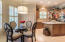 Truly functional kitchen with center island and pantry