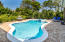 Private pool enclave w lush mature landscaping | fenced w fragrant jasmine hedge