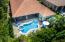 Private pool enclave | mature Sweet Viburnum, Podocarpus, Ligustrums, and a Jasmine fenced hedge