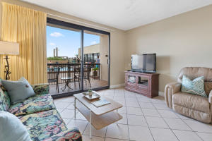 This condo features tile floors throughout - perfect for beach front living, with sliding doors offering views of the pool and the Gulf.