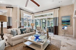 Living area at 3595 Preserve Lane in Burnt Pine where coastal elegance and style unite in the Sandestin Resort.