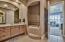 Bedroom 2 Jacuzzi and adjacent shower