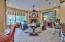 Large family room off of gourmet kitchen