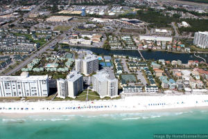 SHORELINE TOWERS CONDOS FROM THE GULF OF MEXICO