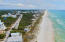 Aerial view looking east. Protected Beach - No Customary Use issues
