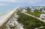 Aerial view looking west. Protected Beach - No Customary Use issues