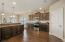 Large open kitchen with backsplash upgrade