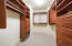 """Huge Walk in """"His & Her's closets off the Master suite"""