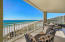 Balcony has Hurricane Shutters to protect your unit, along with a built-in natural gas stainless steel grill