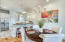 Spacious Open Living/Dining Area with Views of the Santa Rosa Sound