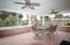 Enjoy entertaining on your large screened porch!