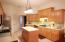 The large kitchen features plenty of counter space for easy meal prep!