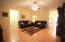 Huge living room with vaulted ceilings!