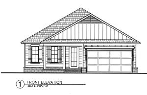Beaux plan front elevation