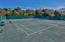Well maintained tennis courts