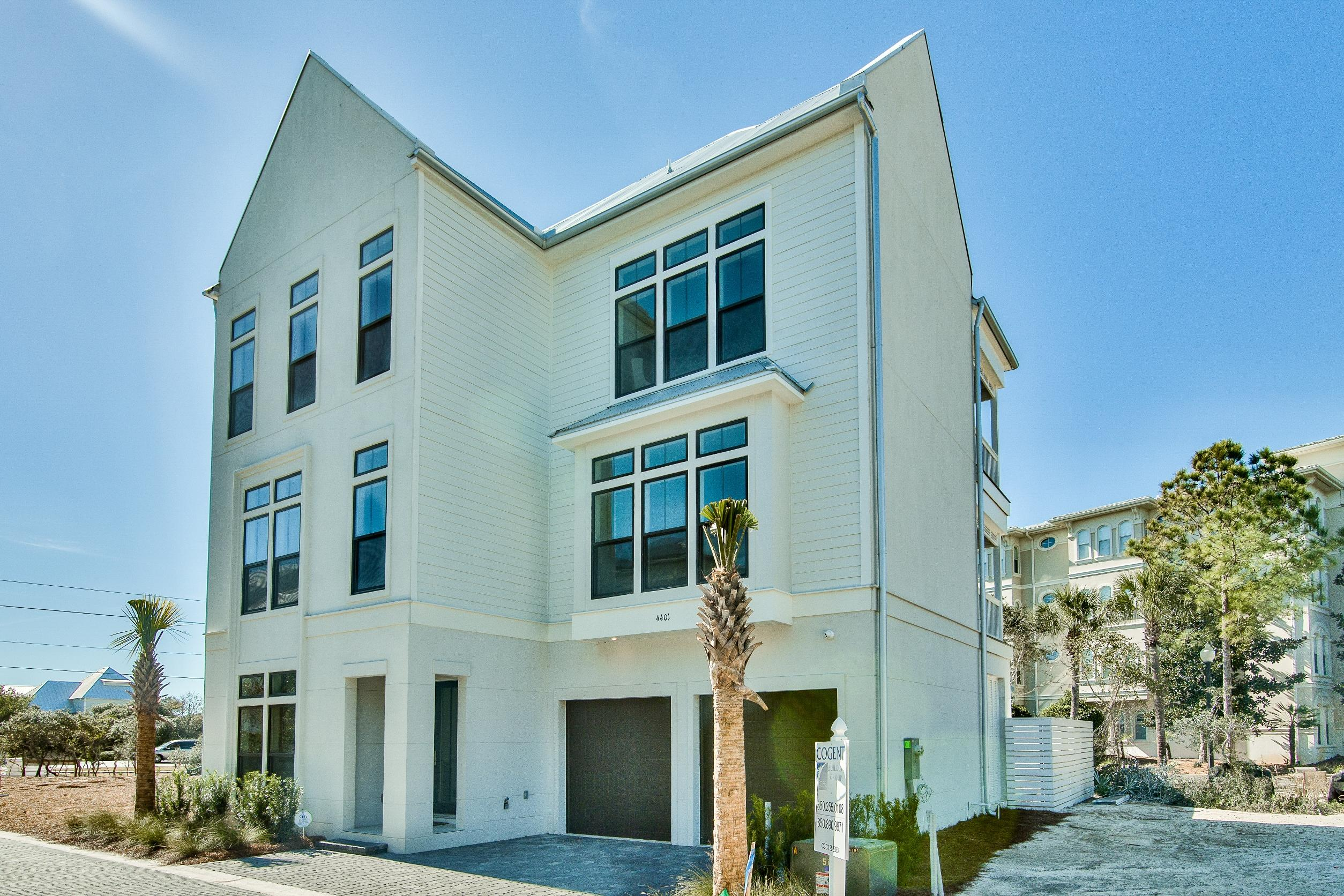 NEW CONSTRUCTION OPPORTUNITY IN SEAGROVE BEACH WITH DEEDED BEACH ACCESS.  Be the first to own the first of seven four-story Beach Villas in this fabulous new development in Seagrove Beach...SEAGROVE EAST.  Each unit boasts a 4th Floor Terrace offering gulf views, two car garage and private pool w/patio.  HOME FEATURES:  Four Stories/Total Living Space 4,224 Square Feet (3,100 H/C)  - Open Fourth Floor Balcony (271 SqFt) - Two Car Garage - Ground Floor Screened in Porch & Covered Porch - Elevator Access to first three levels - Four Bedrooms with Four Full Baths and Two Half Baths - Master located on Third Floor and opens to Covered Porch - Living Area located on Second Floor with Living Room - Opening to Covered Porch - Luxury Appliances Package.  Call today to schedule your appointment.