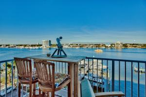 Stunning harbor views from the balcony of this gorgeous unit.