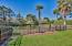 Fenced in yard - narrow width custom fence if you have smaller dogs