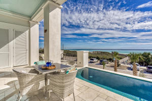 2nd Level pool with forever gulf views that are protected by the state preserve.