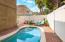 Beautiful brick pavers around pool.