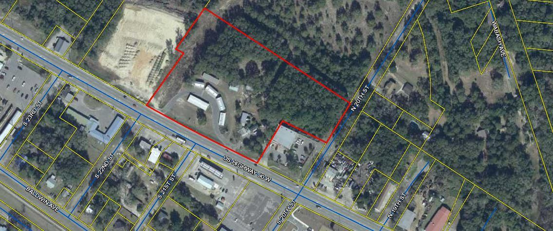 Location! Location! Location! Approximately 6.5 acres Zoned industrial in right on Hwy 90 in DeFunia