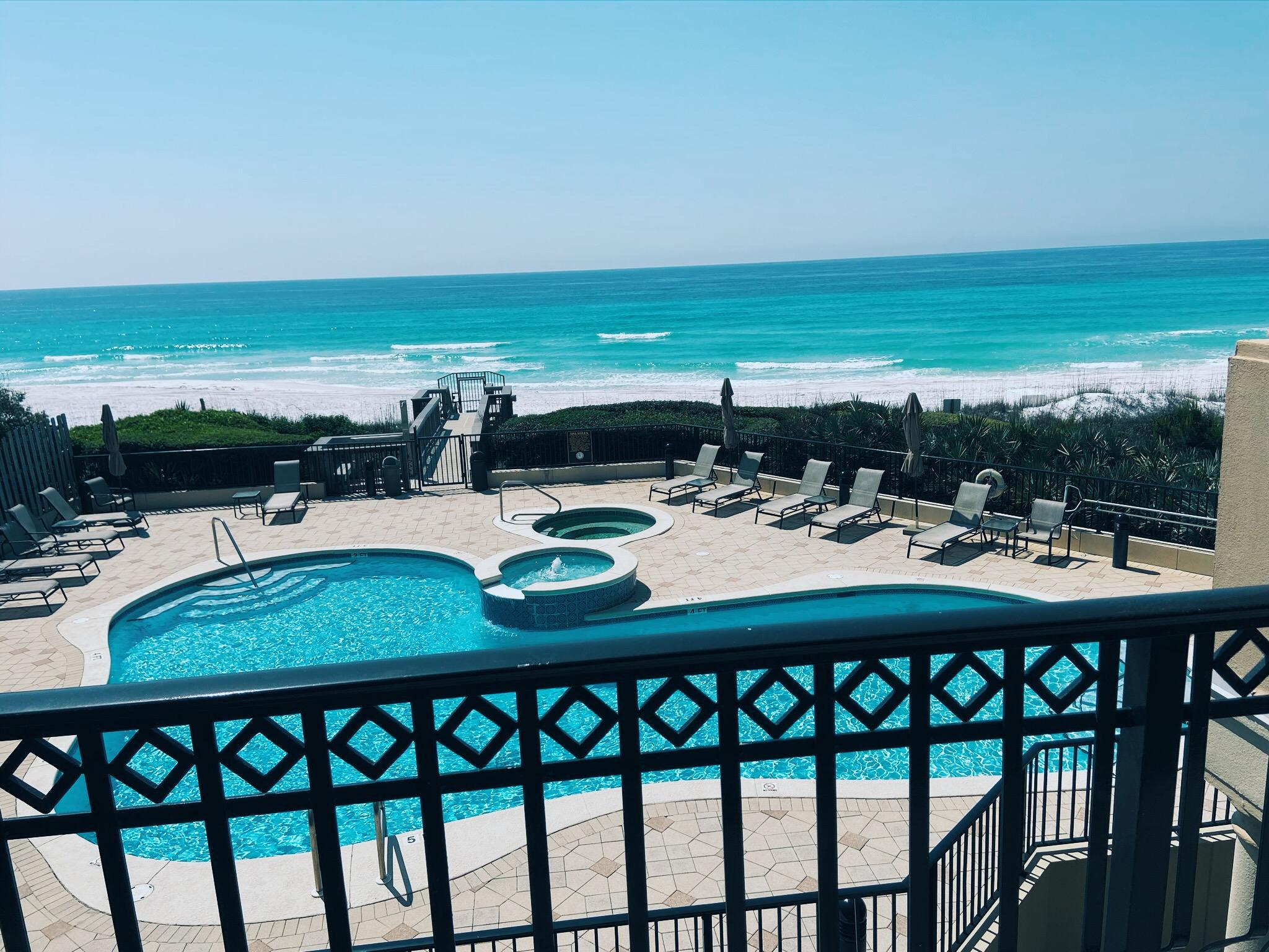Beautiful condo in the very private gated beach front Avalon Dunes complex. There are only 16 total