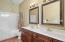 Master Bath with double vanity and whirlpool tub