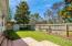 Fenced yard with paver patio