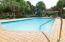 Community pool, pergola, gas grill area.