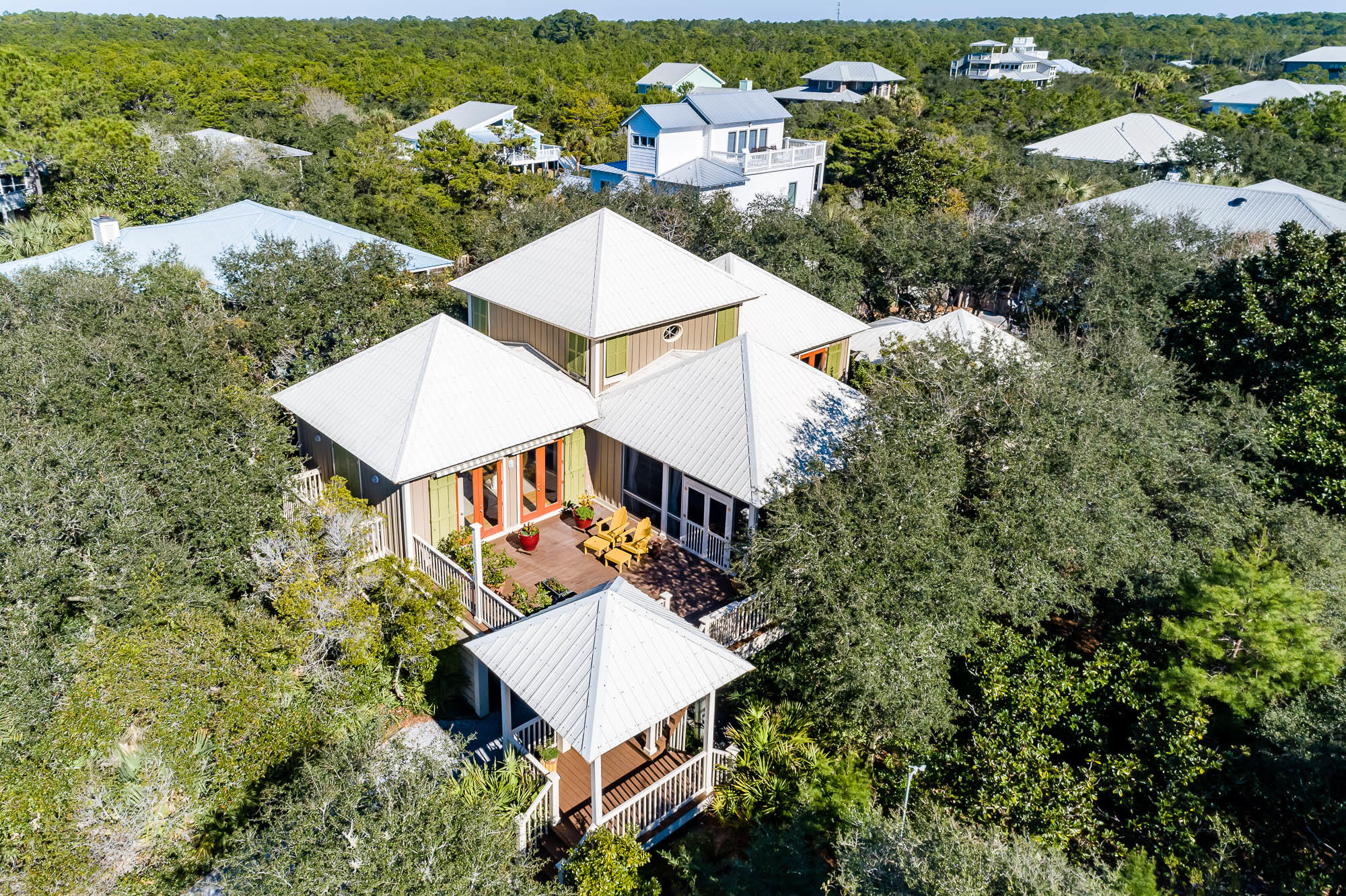 Nestled in the private neighborhood of Gulf Trace in Grayton Beach, you'll find this unique, cozy be