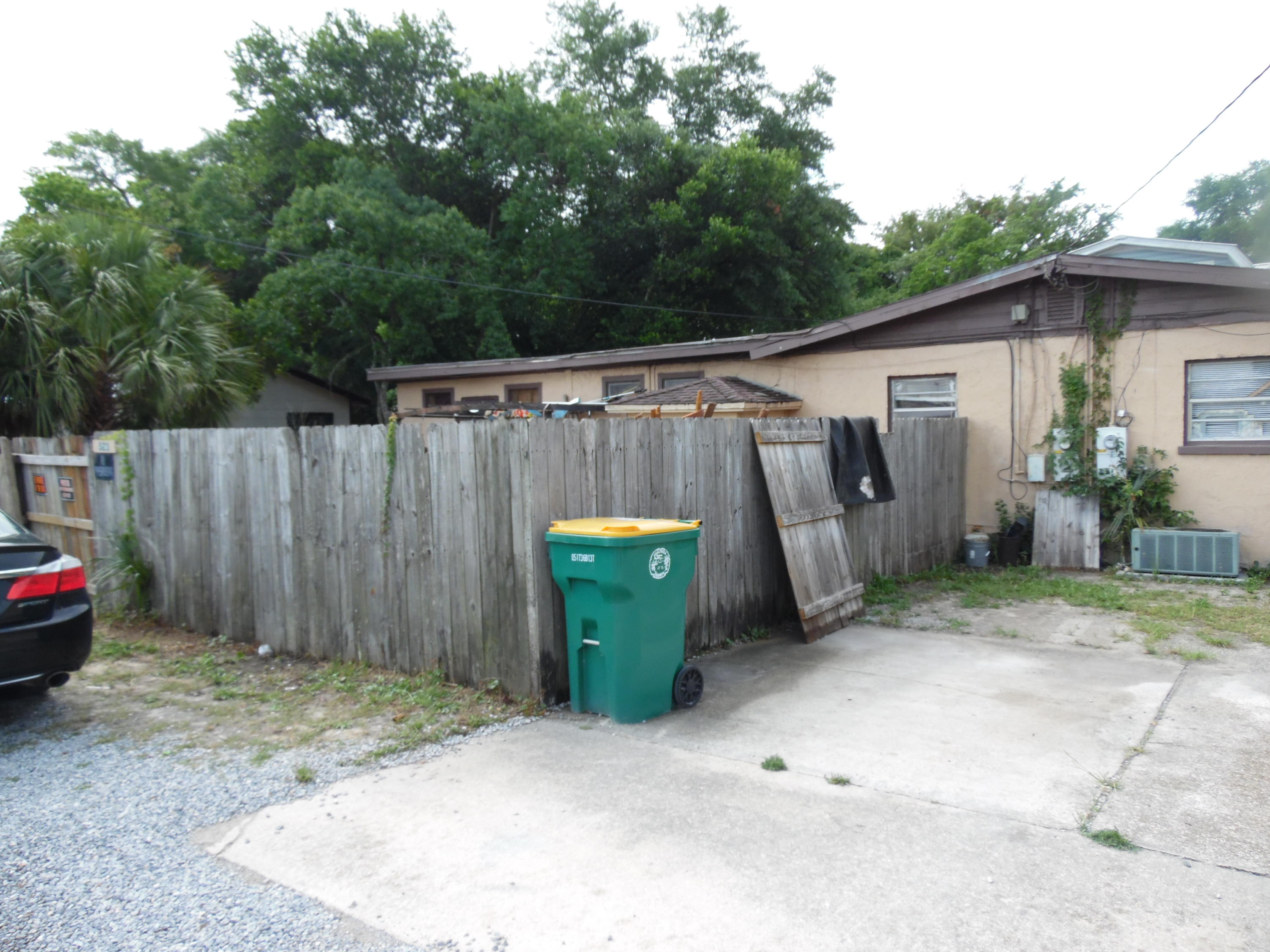 This duplex corners on two very busy streets in Ft. Walton Beach.  Unit 521 is the smaller unit and