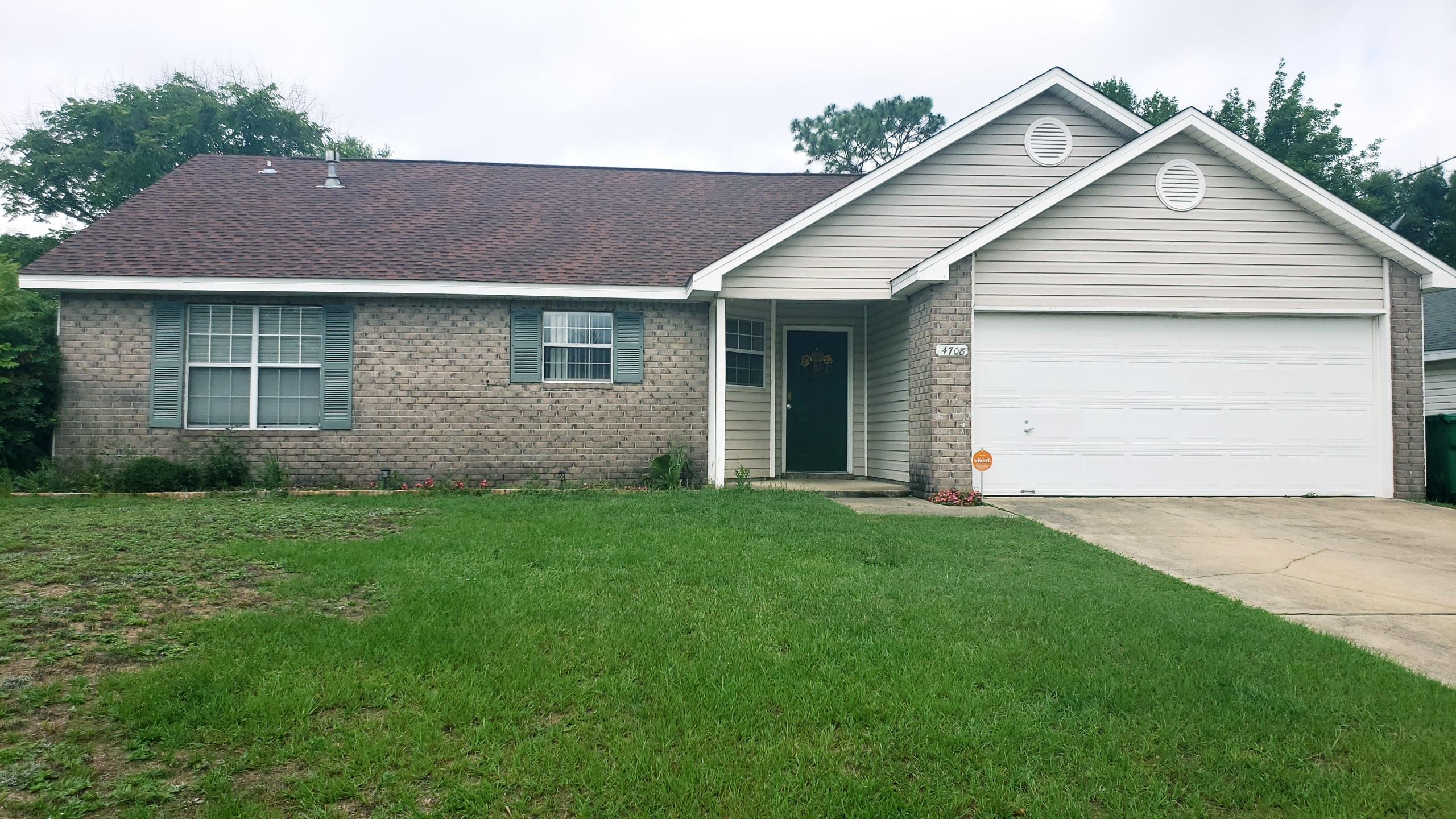 South of 1-10 on Flat Lot ~ This 3/2/2, split bedroom design includes a spacious kitchen/dining room