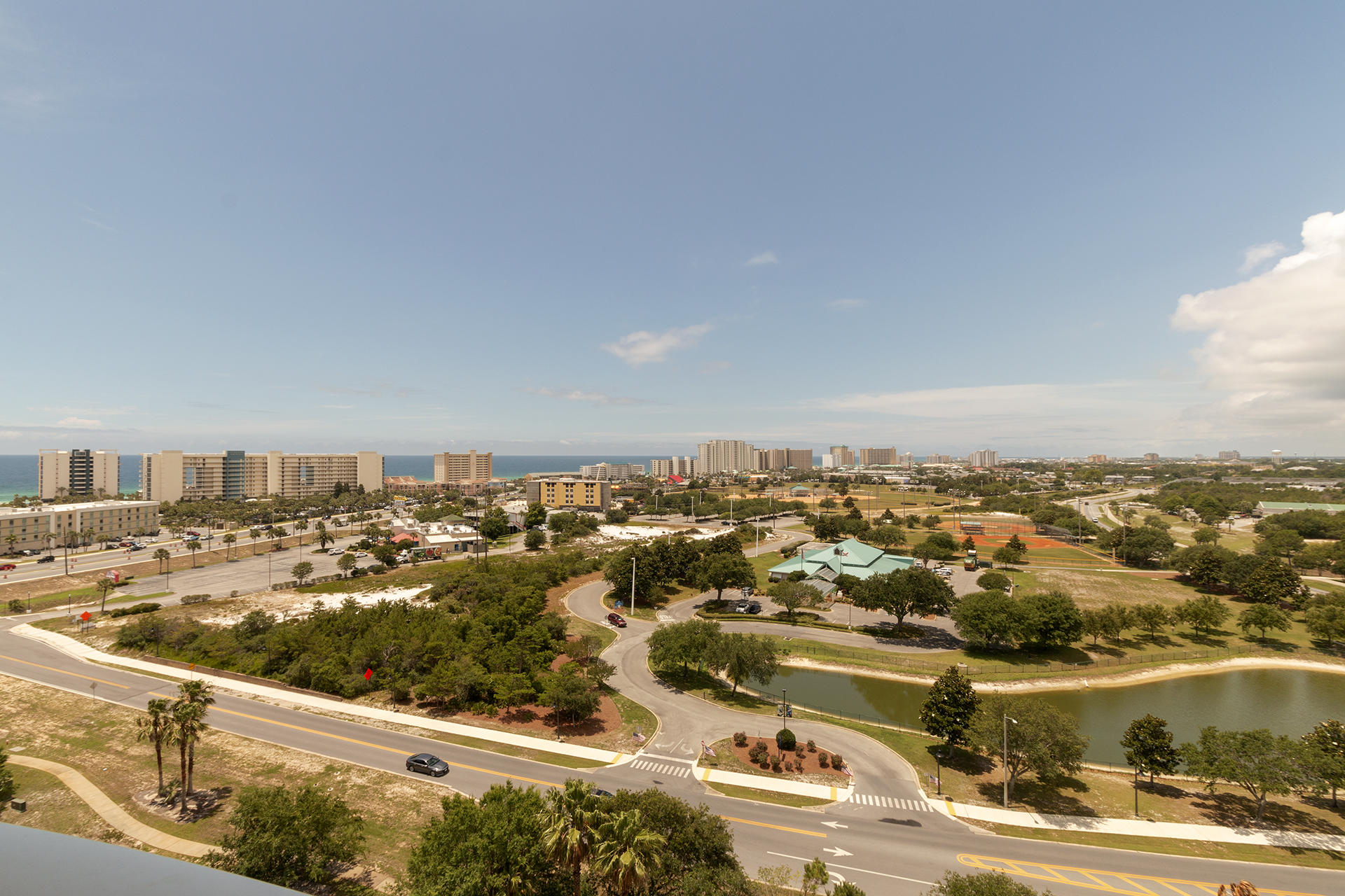 Gorgeous panoramic view of the Gulf & Bay from this 12th Floor 2BR/2BA, 970SF Condo. Relax on the ba