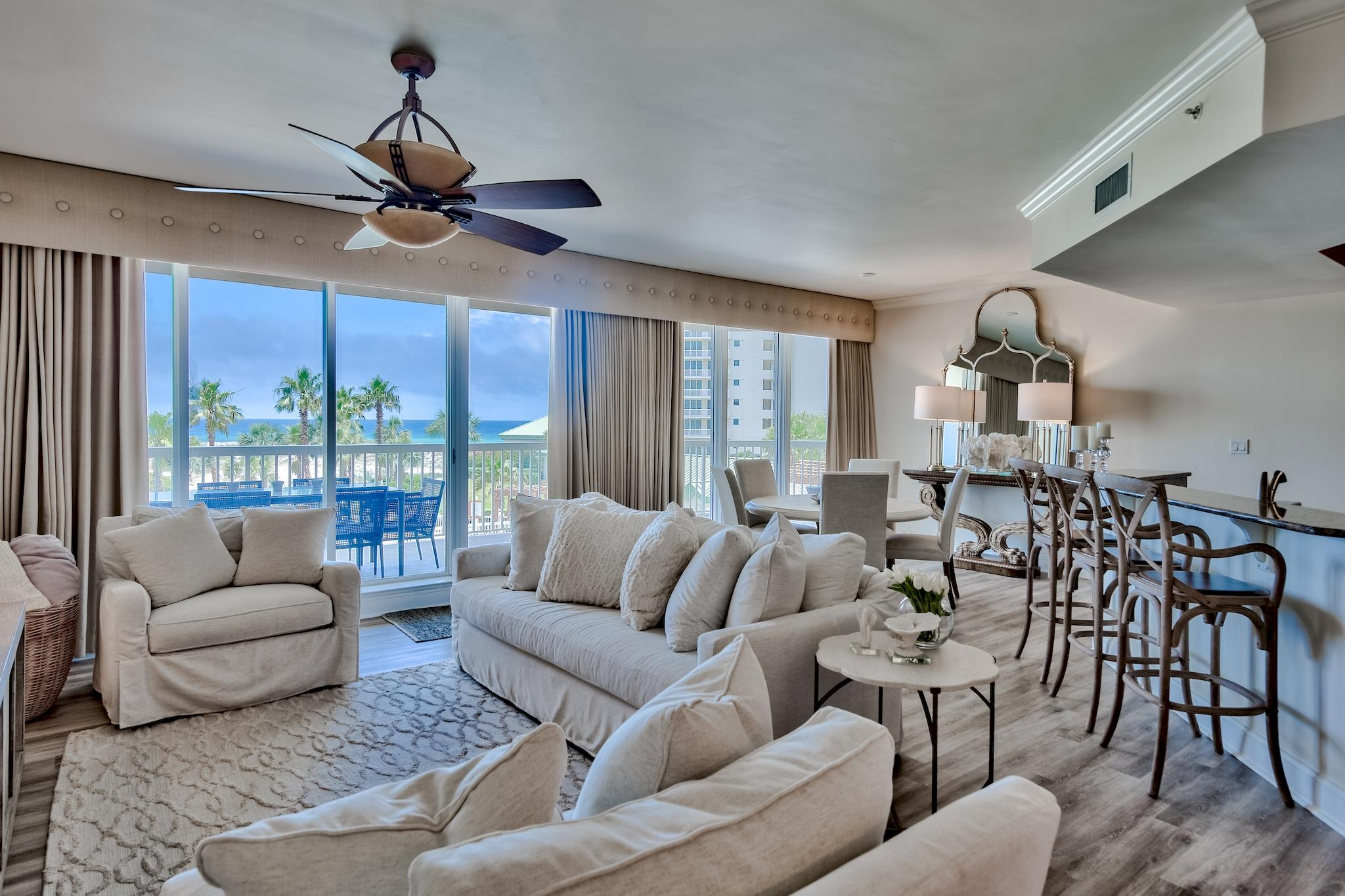This exquisite unit is located in the exclusive non-rental St. Barths building inside the gates of S