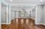 Hardwood floors in Dining area open to living room