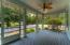 Screened back porch