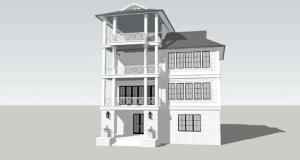 New House Design, will have carriage house.