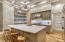 Large Kitchen Island with Quartz Countertop