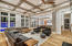 Spacious Living Area with White Oak Flooring Throughout Home