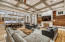 Overview of Open Concept Living, Dining and Kitchen